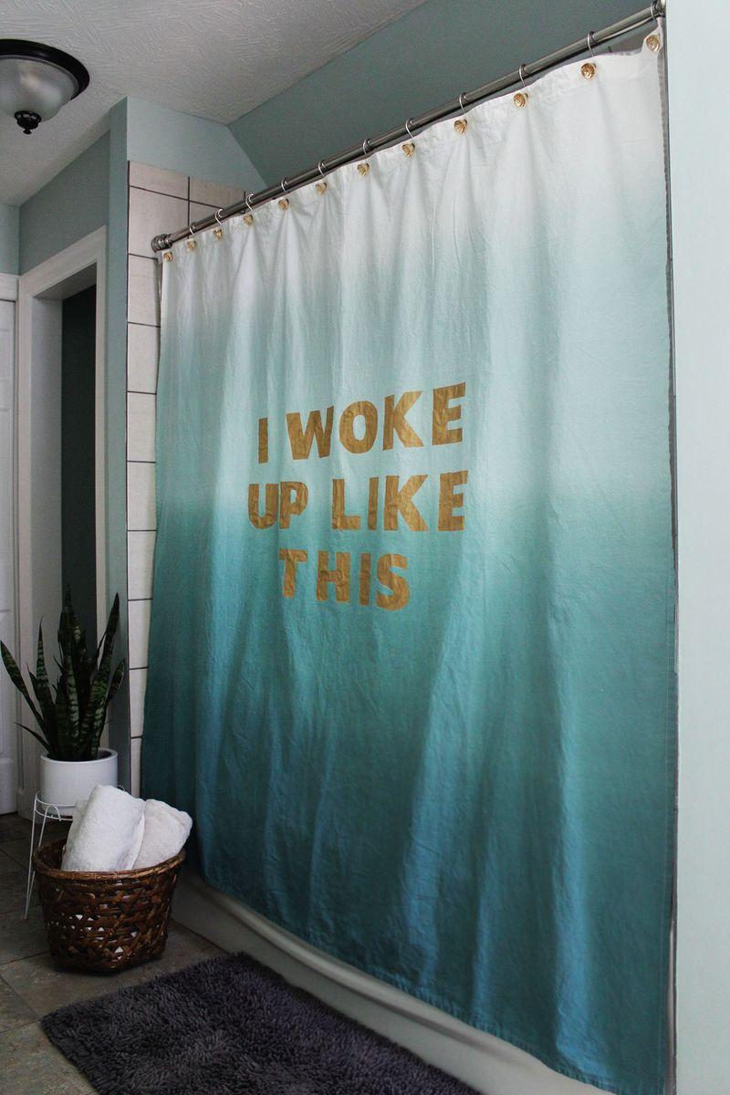 statement shower curtain diy a