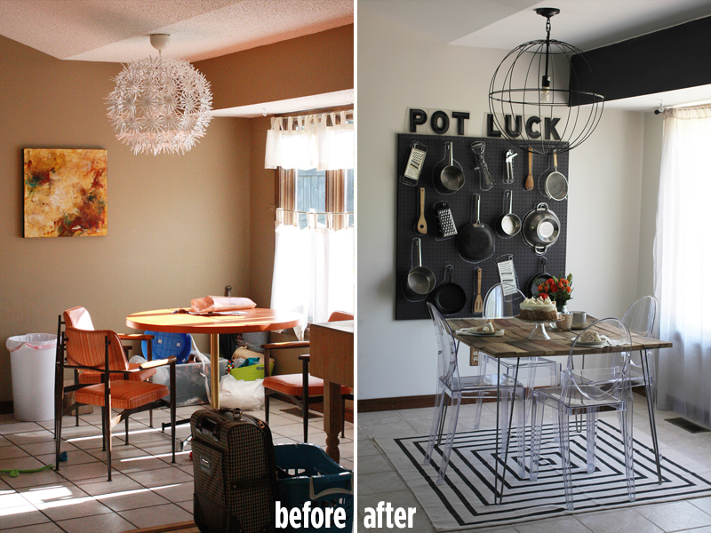 Emma s Dining Room  Before   After    A Beautiful Mess A Beautiful Mess dining room before and after