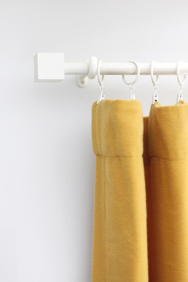 Budget Curtain Rod Amp Finial DIY A Beautiful Mess