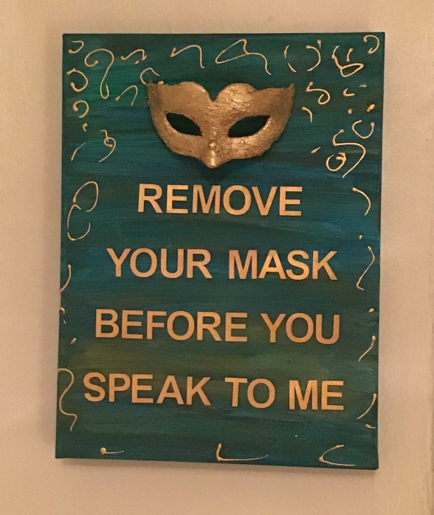 Word art: Remove your mask