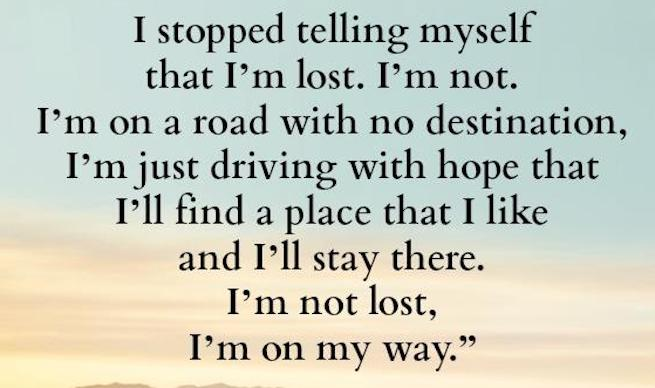 I stopped telling myself, photo from: http://www.mesmerizingquotes.com17802442