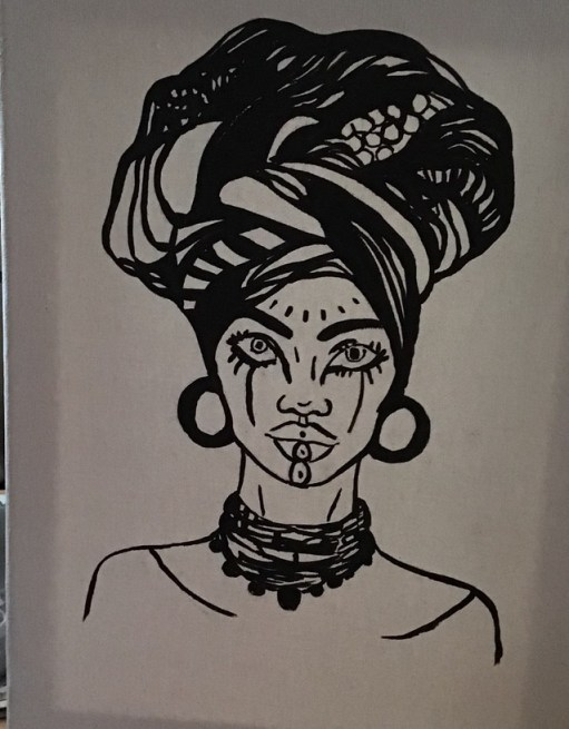 African lady 1, image 2