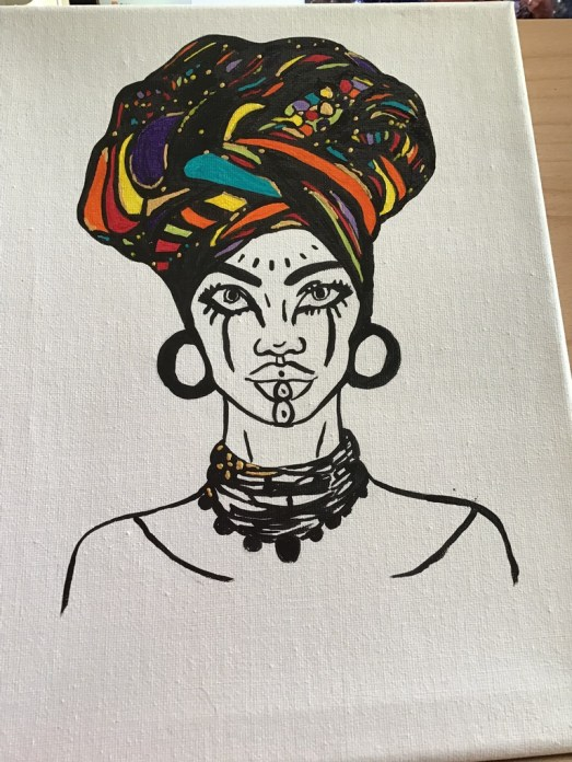 African lady 1, image 4