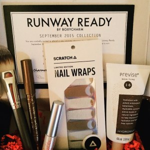Boxycharm september 2015 runway ready