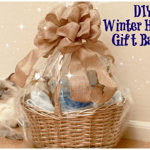 DIY Winter holiday gift basket
