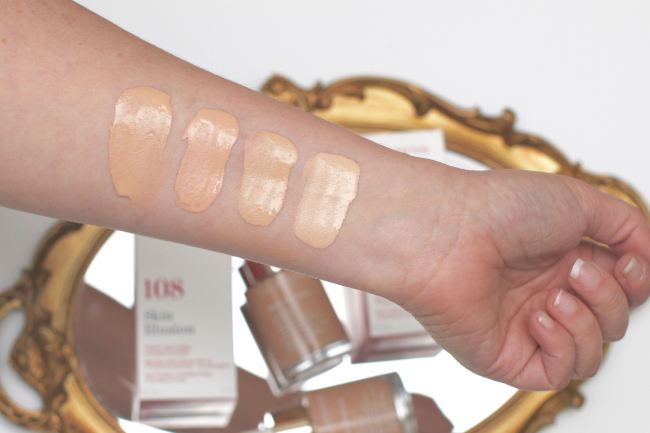 Clarins Skin Illusion Swatches