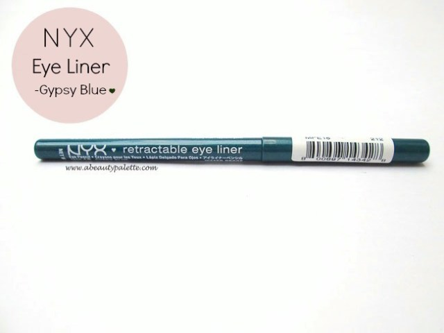 NYX retractable eye liner gypsy blue