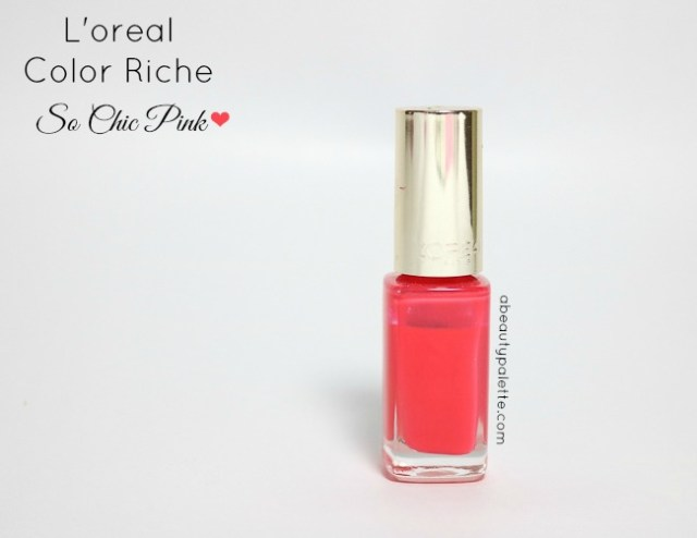 Loreal Color Riche Nail Paint 208 So Chic Pink Review