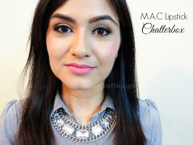 Mac Amplified Creme Lipstick Chatterbox Swatch nc 30