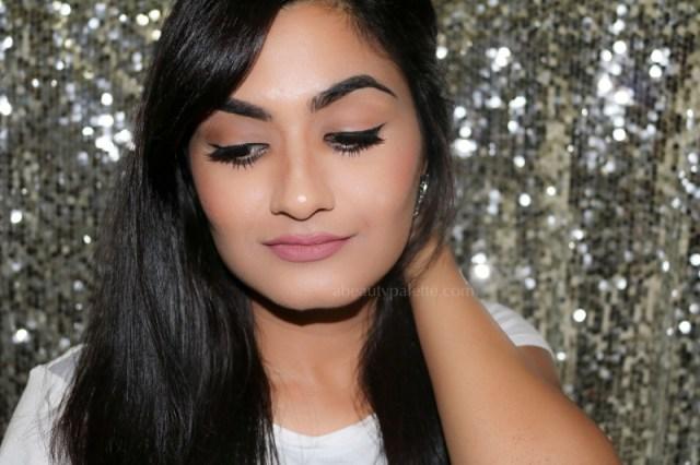 Silver Glitter Eyeliner & Neutral Pink Lips: FOTD, EOTD