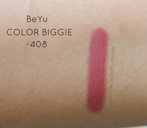 BeYu Color Biggie For Lips And More- 408 MATT: Review, Price, Swatches