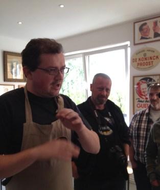 Werner explains the Lambic production process