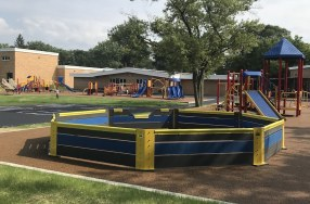 The PTA is Proud to Announce the Gaga Ball Pit is Installed!