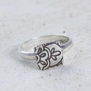 Lotus Stacking Ring Silver