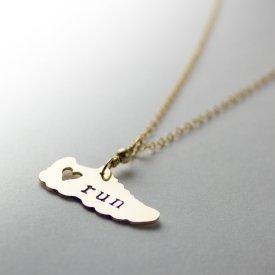 gold marathon necklace