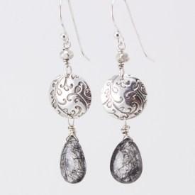 Growth Rhutilated Quartz earrings