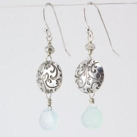 Growth earrings Chalcedony