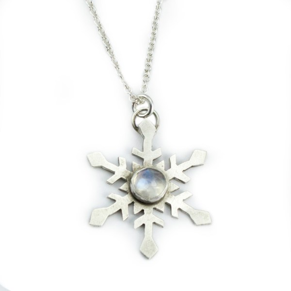 handmade snowflake with gemstone