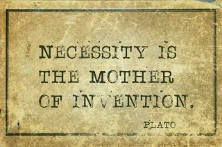 mother of invention Plato