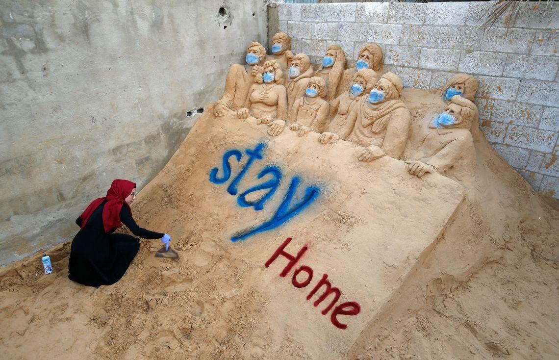 PALESTINIAN-HEALTH-VIRUS-GAZA