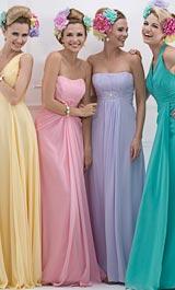 Abendkleid pastellfarben