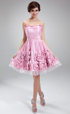 Abiballkleid rosa mit Herzausschnitt, Tüllkleid