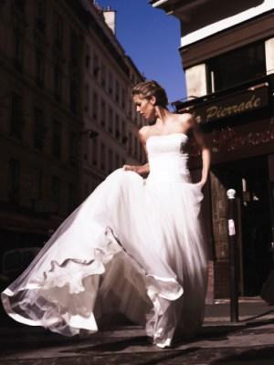 Hochzeitskleid - Bustierkleid lang, weiß - Ugo Zaldi