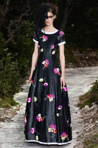 Chanel Abendkleid, Blumenprint