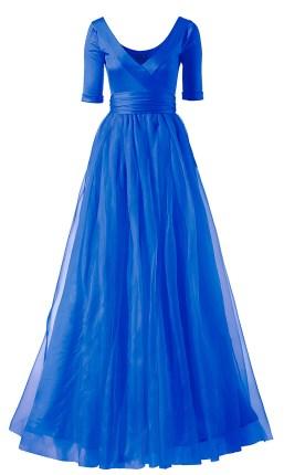 Taftkleid blau mit Halbarm, Minx Mode