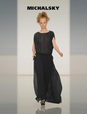 MICHALSKY Abendkleid schwarz transparent