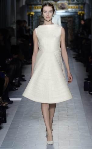 Weißes Kleid knielang, Valentino