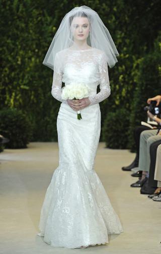 Langarm Brautkleid, Carolina Herrera 2014