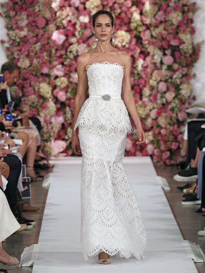 Weiße Abendkleider Oscar de la Renta 2015