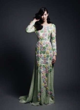 Meissen Couture - Abendkleid mit asiatischem Flair