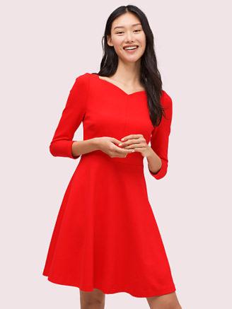 Rotes Kleid in femininer Passform - Kate Spade
