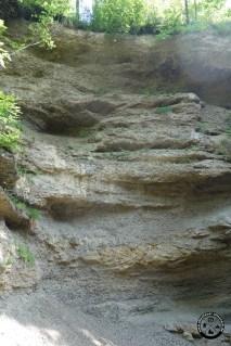 Steilwand am Wasserfall