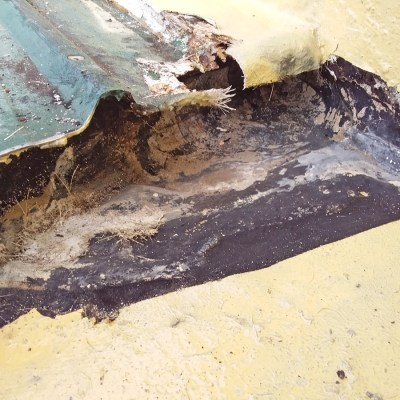 internal gutter over bitumen