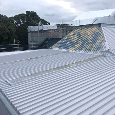 Ecoseal over roofing iron