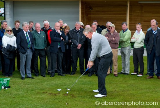 Colin gives a clinic at the Deeside golf club driving range