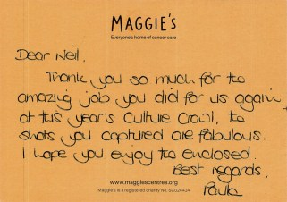 2018-07-16- Thank you from Paula at Maggies 2