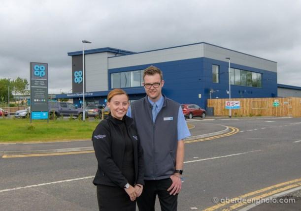 Bebra Bruce of Activus Recruitement and Myles McDonald of the Coop for press release