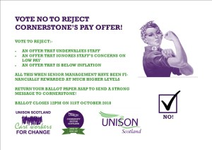 Cornerstone Vote No poster