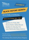 Branch celebrates Black History Month with two virtual events 30 and 31 October
