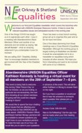North East, Orkney and Shetland Equalities Newsletter - First issue