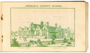 Illustration of Abergele County School  c1904 from booklet owned and scanned by Colin Knowlson