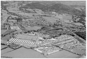 Aerofilms photograph of the Royal Welsh Showground, Abergele, July 1950