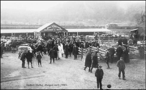 Abergele Hesketh Market early 1900s from the Dennis Parr Collection reproduced with permission