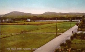 "Old postcard of the ""Hills From Pensarn"""