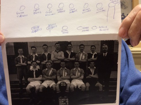 Abergele Grammar School football team 1943-44 - Derek Genders