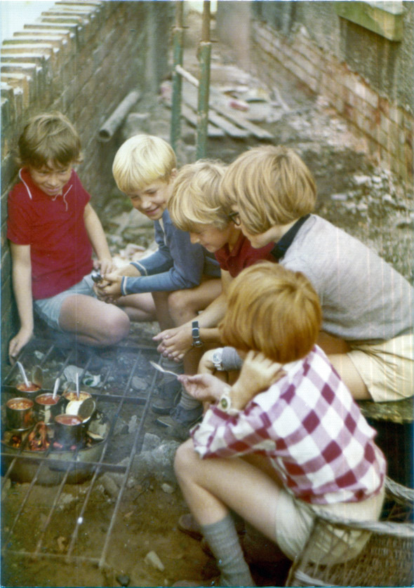 1972 cook-out at Paul Watkins's